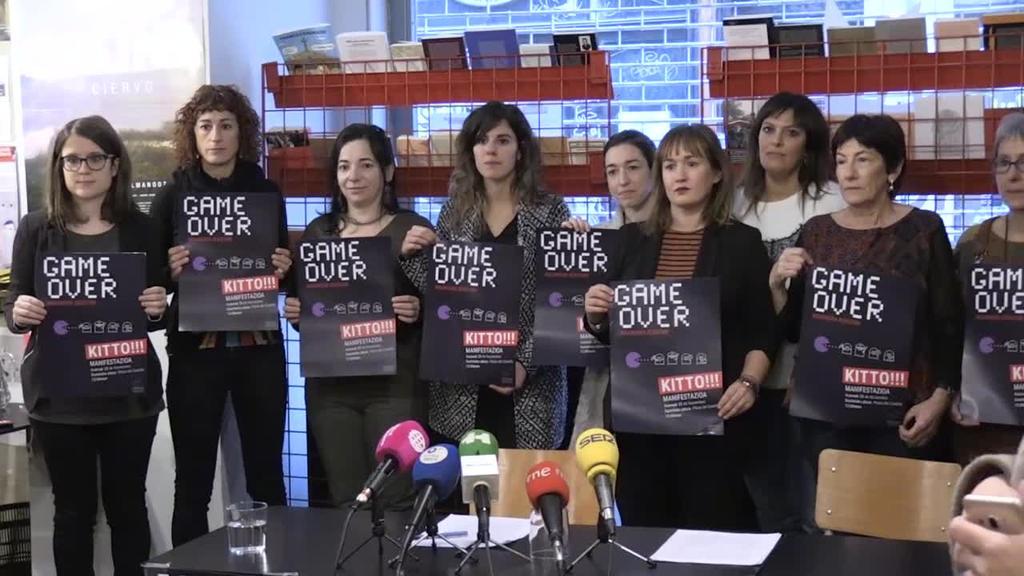 'Game over indarkeria sexistari . Kitto!' lelopean manifestazioa izanen da Iruñean azaroaren 25ean