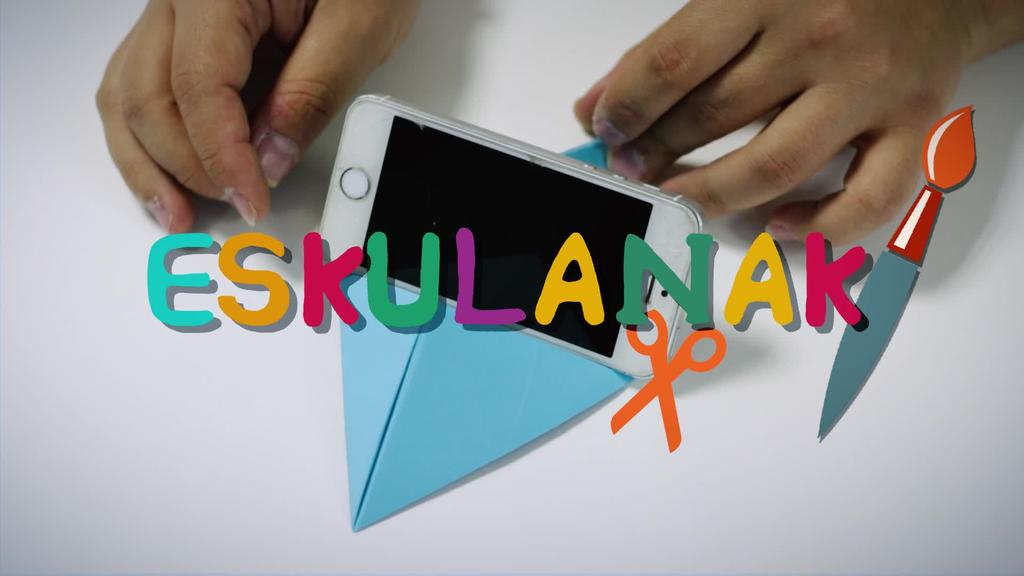 ZUK ZEUK EGIN Mugikorrarentzako origami euskarria
