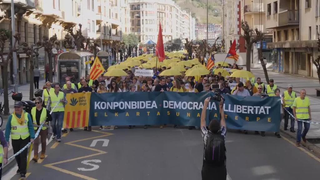 Preso politiko kataluniarrekiko elkartasuna Donostiatik
