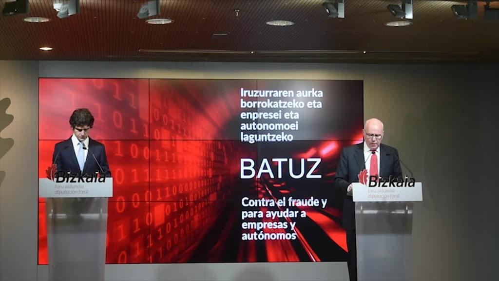 Bizkaiko Foru Ogasunak Batuz sistema ezarriko du 2021ean iruzurraren aurka borrokatzeko