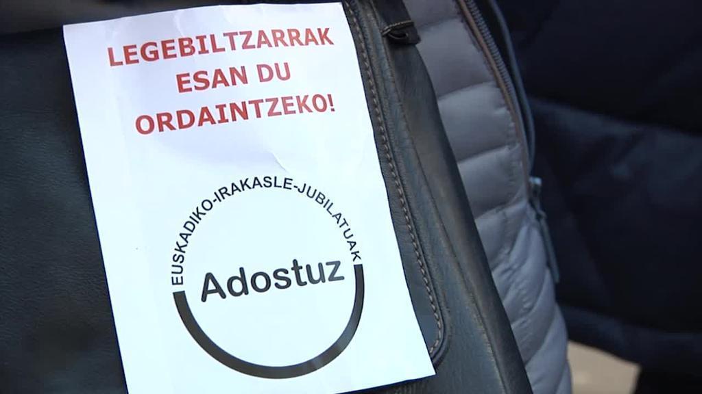 Adostuz Euskadiko Irakasle Jubilatuen Elkarteak erreklamazioa jarri du beren kalte-ordaina exijitzeko