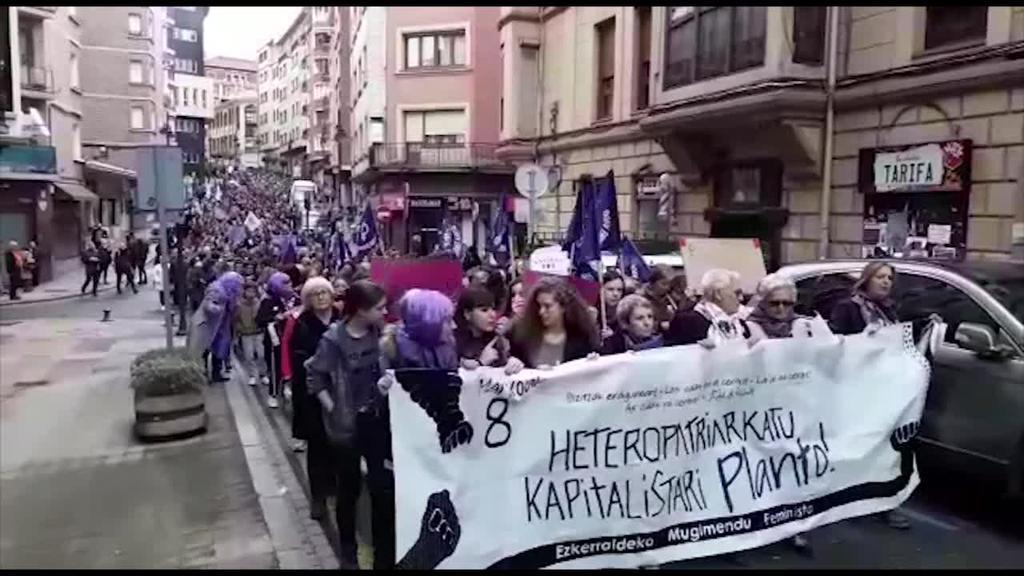 Greba feminista Euskal Herriko bazter guztietara iritsi da