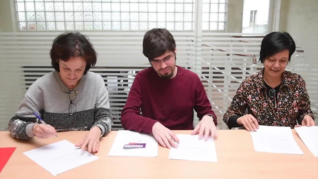Elkarrekin Podemos koalizioan aurkezteko ituna sinatu dute Ahal Duguk, Ezker Anitzak eta Equok