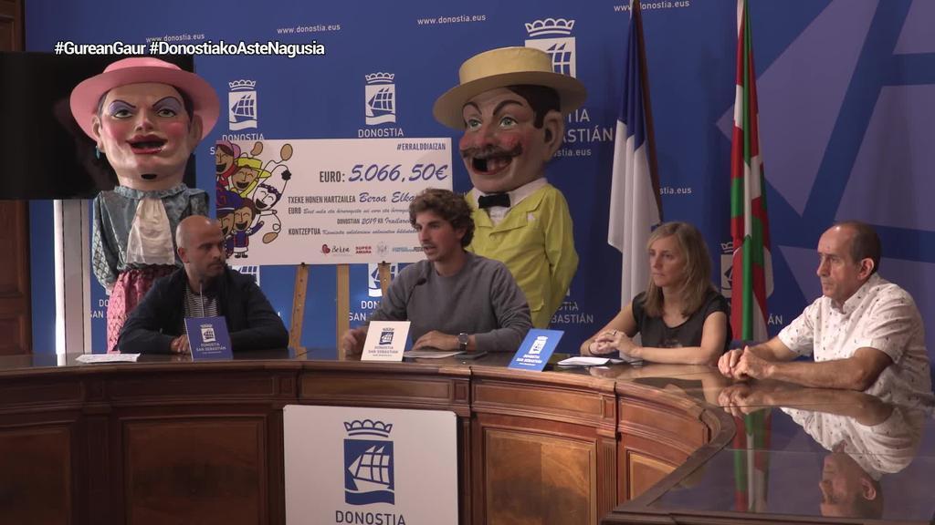 5.066 euro jaso ditu Beroa elkarteak Donostian saldutako kamiseta solidarioei esker
