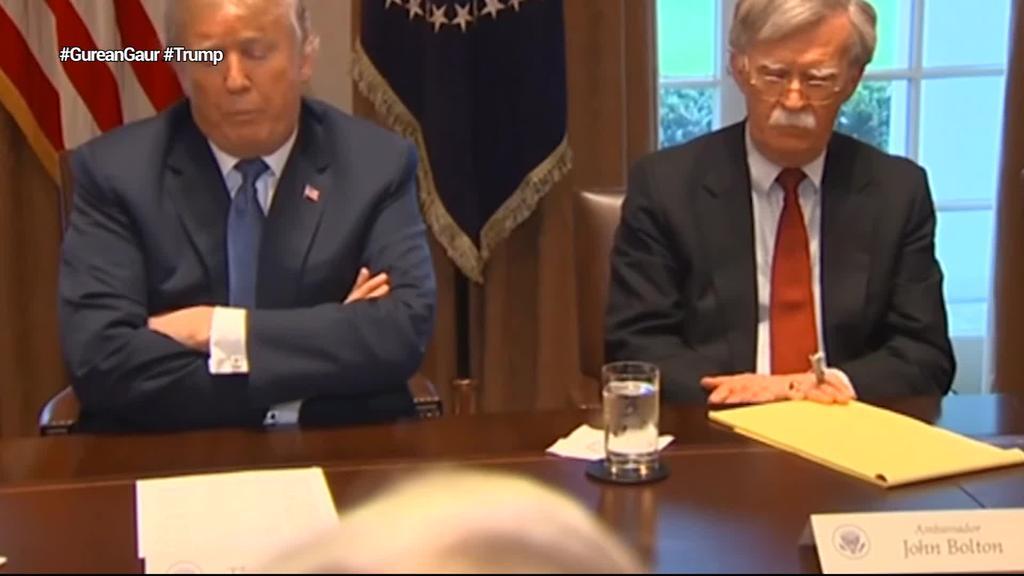 John Bolton Segurtasun Nazionalerako aholkularia egotzi du Trumpek