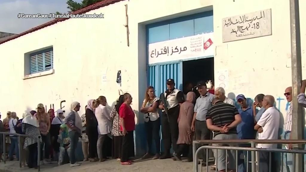 Parte-hartze baxua izan da Tunisiako bozketan