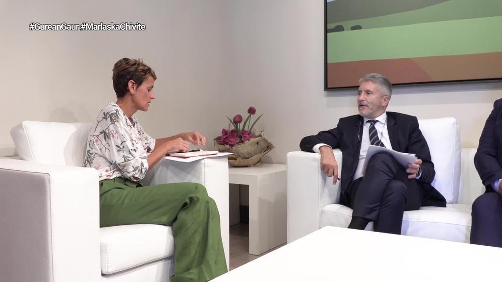 Maria Chivitek harrera egin dio Grande Marlaskari