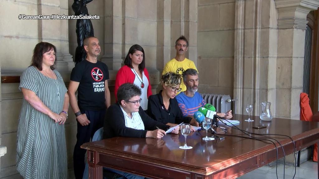 Eusko Jaurlaritza salatuko dute ikastetxeen arteko desberdintasuna areagotzeagatik