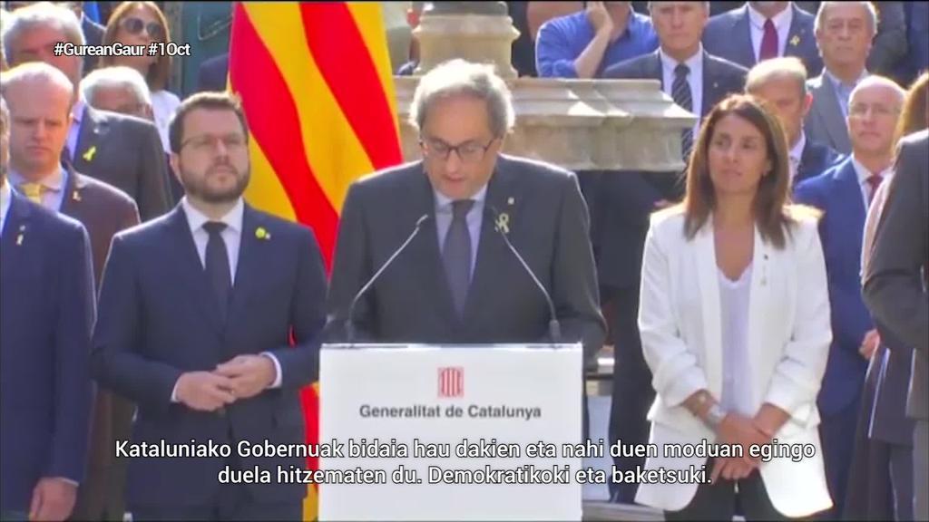 Kataluniako autodeterminazio ariketak bi urte bete dituenean, alderdi independentistek aldarriari eutsi diote