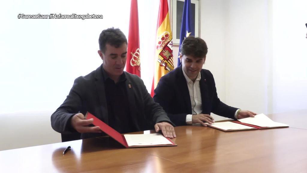 Nafarroako Gobernuak eta Udalerrien Federazioak berritu dute etxegabetzeen inguruko hitzarmena
