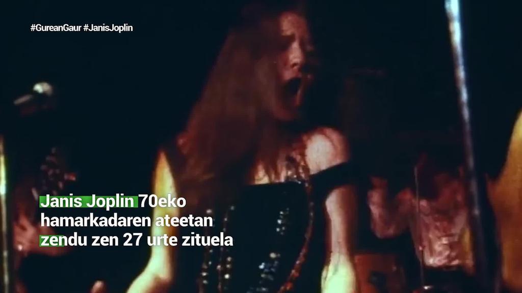 Janis Joplin aitzindaria izan zen gizonak protagonista ziren panoraman