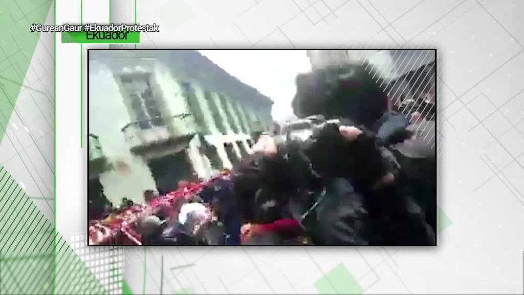 477 pertsona atxilotu dituzte dagoeneko Ekuadorren, gobernuaren murrizketak salatzeko protestetan