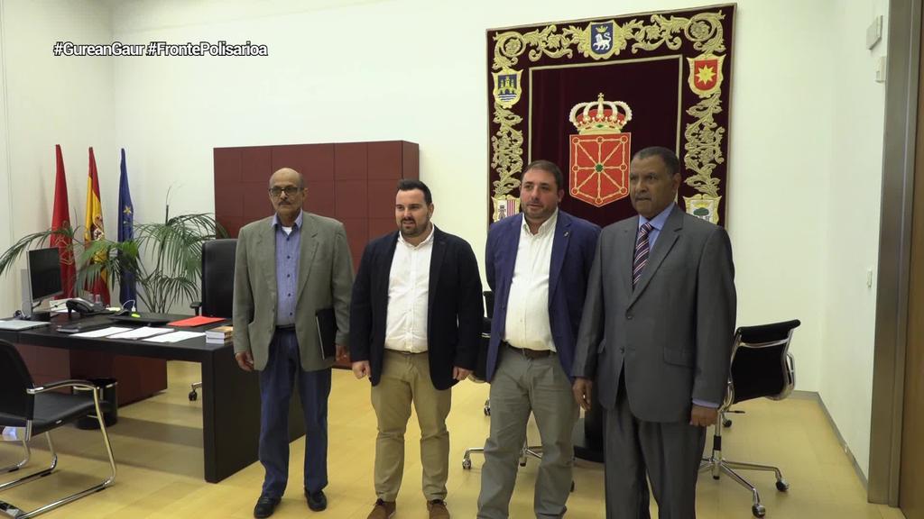Frente Polisarioaren Nafarroako ordezkari berriari harrera egin dio Unai Hualdek
