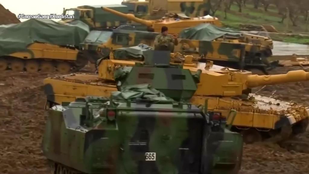 Turkiako armada Siriako milizia kurduen kokaleku batzuk bonbardatzen hasi da, Turkiako hainbat hedabideren arabera