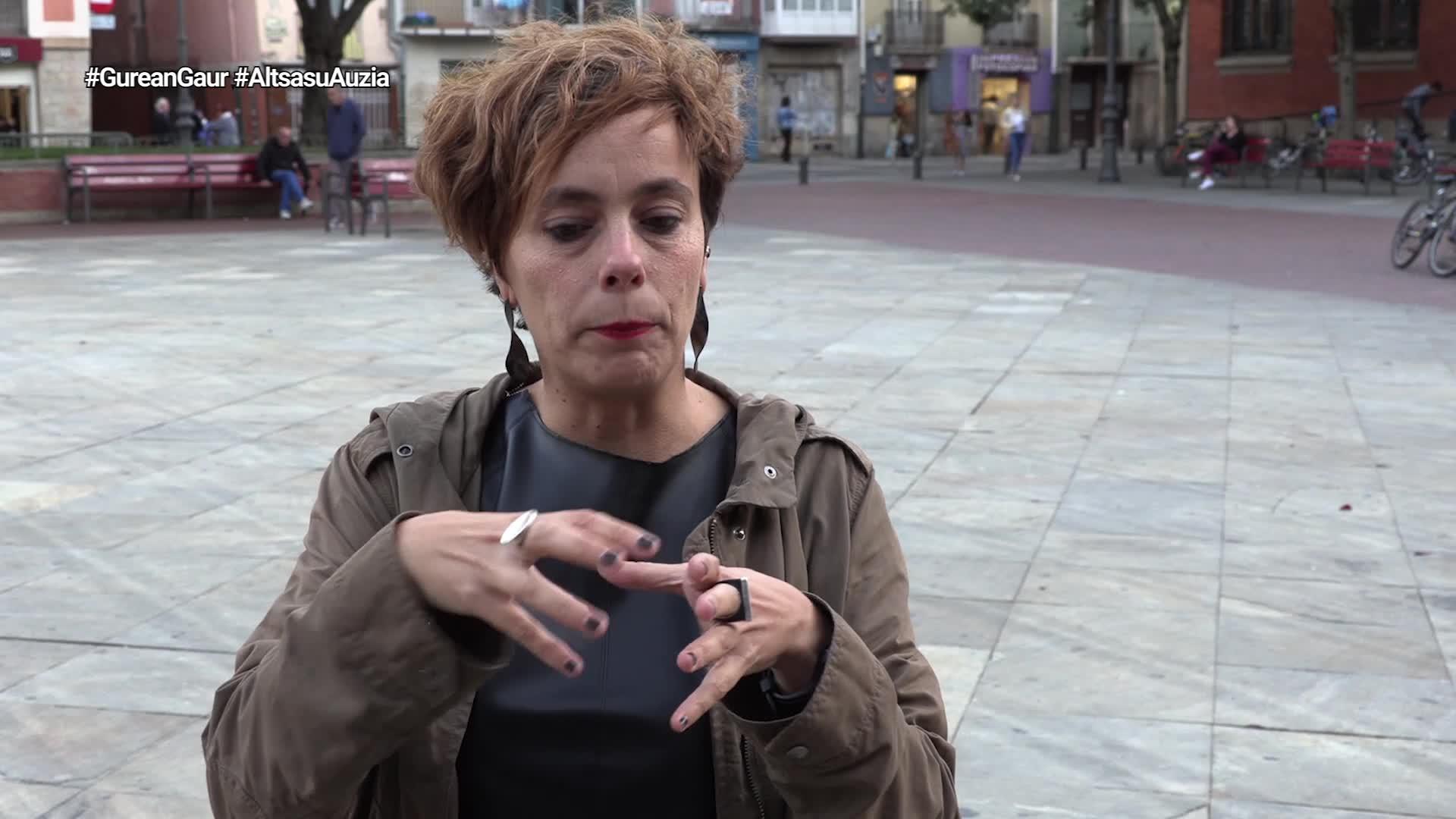 Amaia Izko: 'Balorazio negatiboa egiten dugu, leundu bada ere injustiziak dirauelako'
