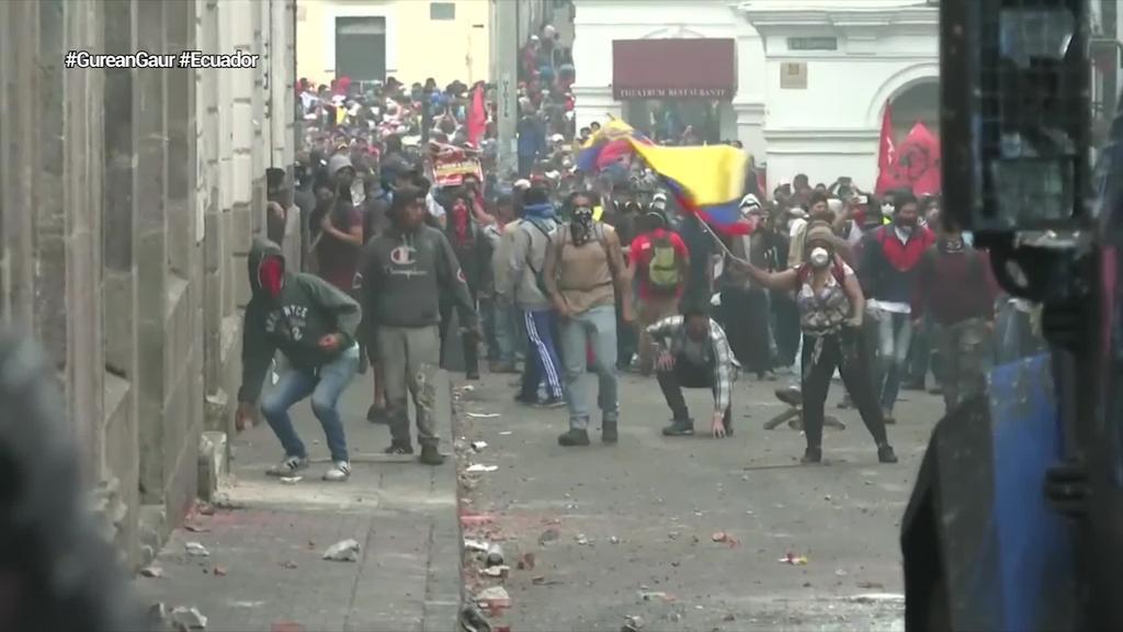 Bi pertsona hil eta 714 atxilotu dituzte orain arte Ekuadorko protestetan