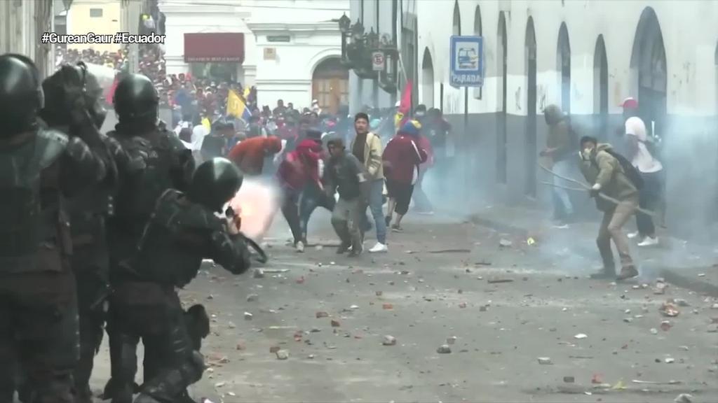 Gaur hamargarren protesta eguna beteko dute Ekuadorren