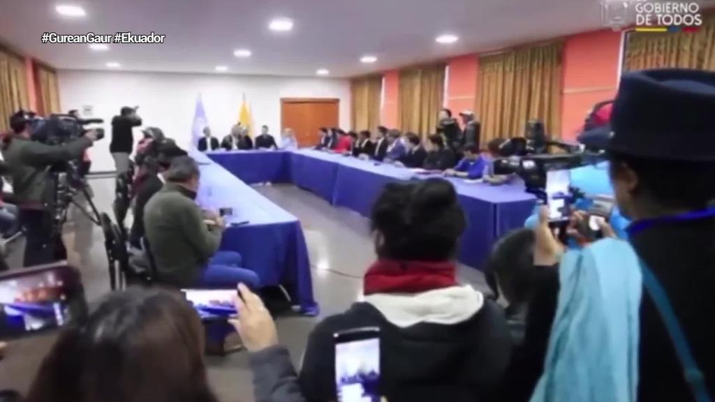 Gobernuak eta indigenek akordioa lortu ondoren, protestak gelditu dituzte Ekuadorren