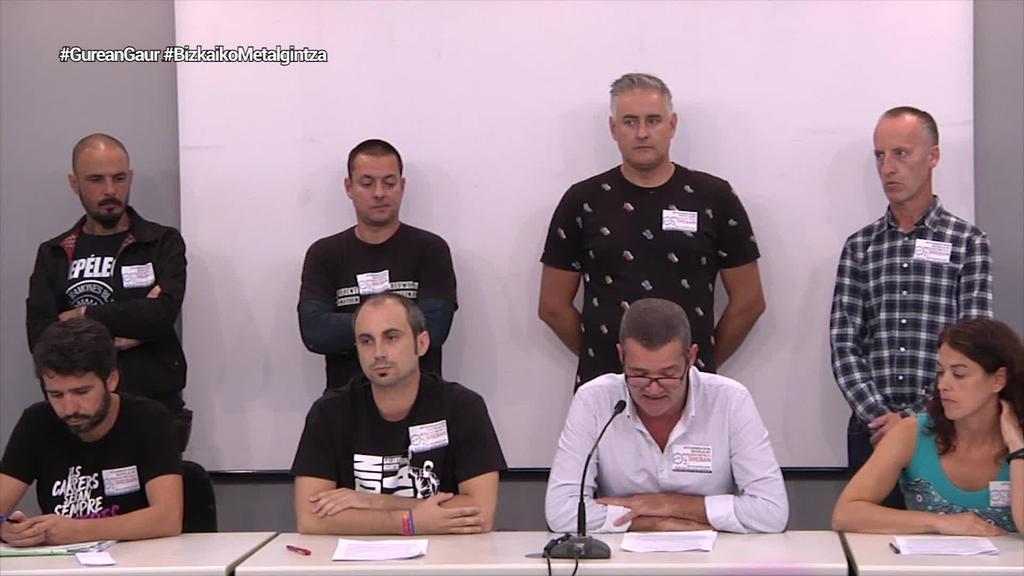 Bizkaiko Metalgintzako sindikatuek mobilizazioen balorazio positiboa egin dute