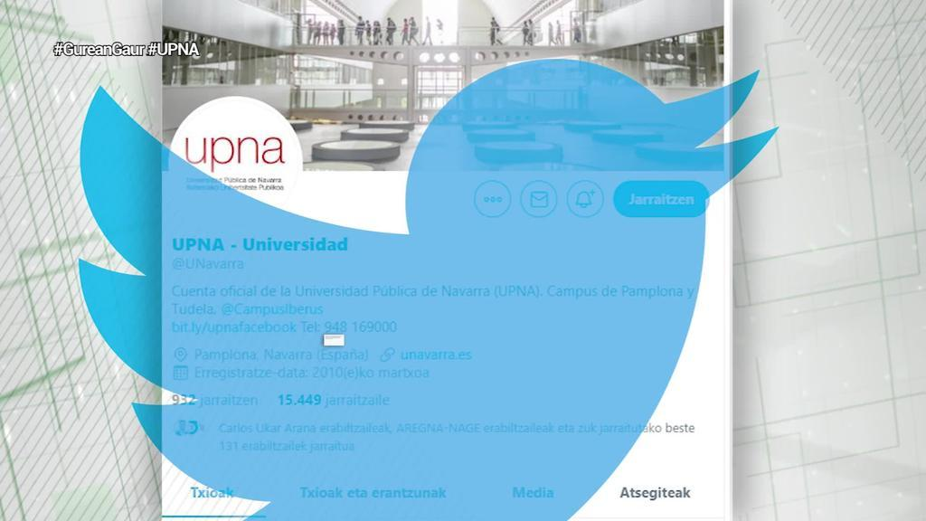 Iruñeko alkatearen heriotza eskatu dute Nafarroako Unibertsitatearen twitter kontutik