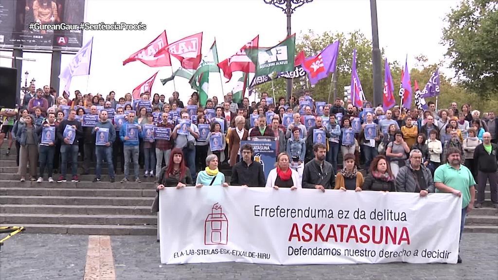 Kataluniaren alde mobilizatzeko deia egin dute sindikatuek