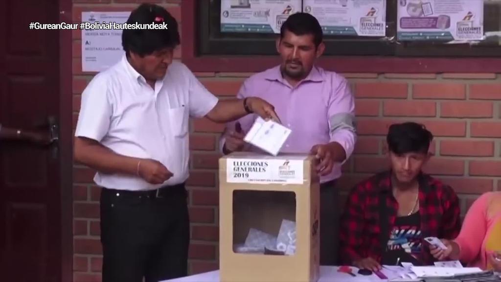 Bigarren itzulian erabaki daiteke Morales izango den Boliviako presidentea