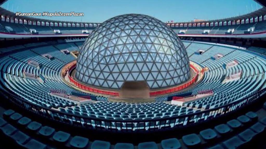 15 metroko kupula bat jarriko dute Bilboko zezen plazan
