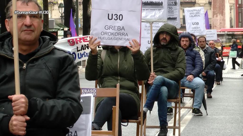 ESK sindikatuak U30eko greban parte hartzeko deia egin du Bilbon