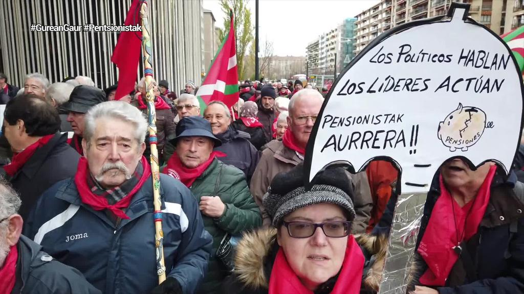 5000 pentsionistek aldarrikapenez bete dute Gasteiz