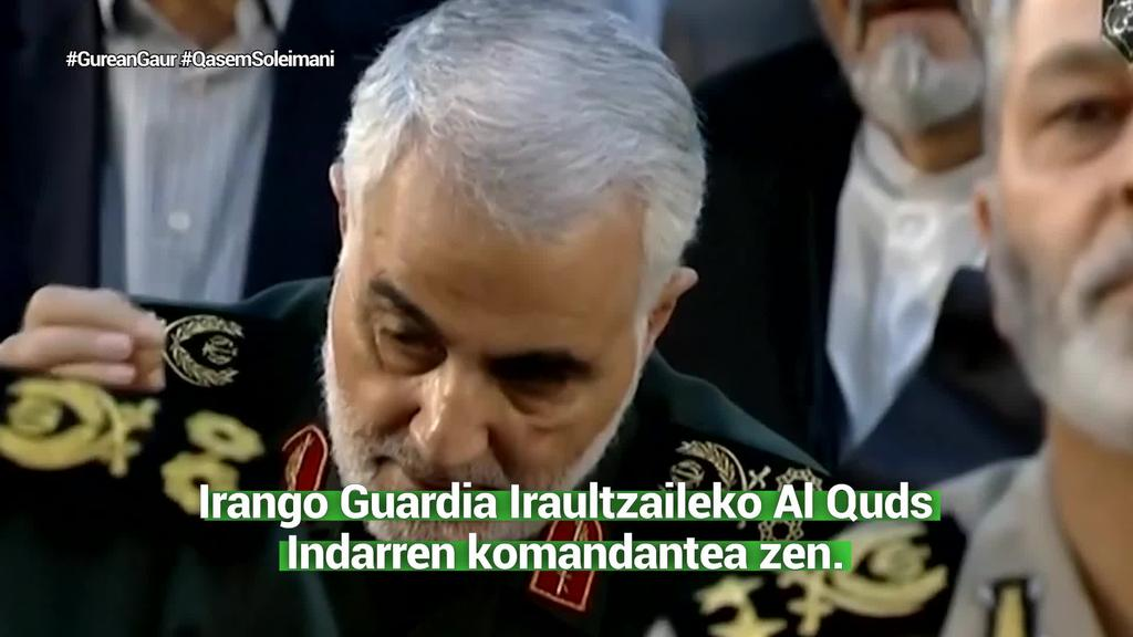 Qasem Soleimani Irango buruzagi militarrik ezagunena zen