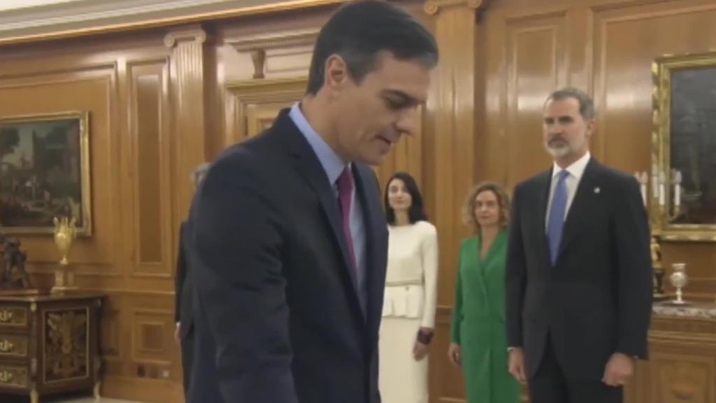 Presidente gisa zin egin du Pedro Sanchezek