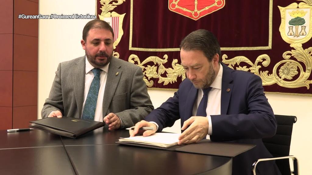 Parlamentuak eta NUPek Nafarroako oroimen historikoaren dokumentu-funtsaren hitzarmena berritu dute