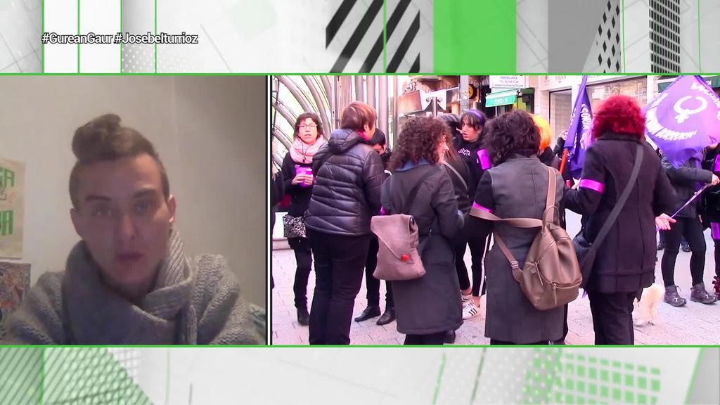 Josebe Iturriozek zaintza krisiaren aurrean gaudela ohartarazi du eta Mugimendu Feminista lanerako prest dagoela