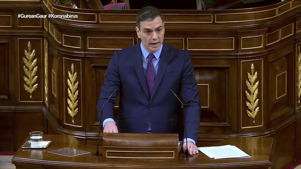 Sanchezek neurrien berri eman du Espainiako kongresuan