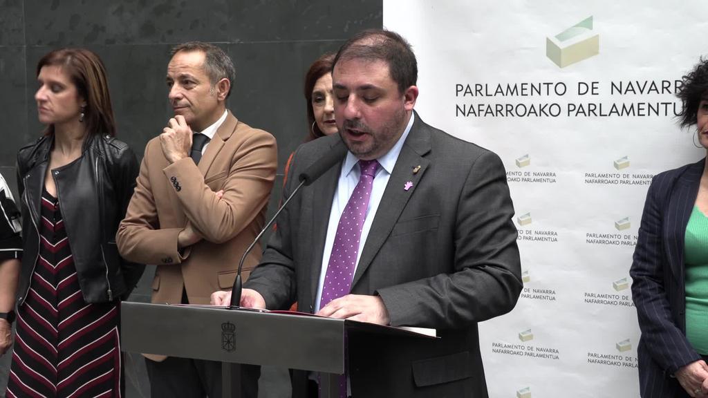 Unai Hualde (Nafarroako Parlamentuko presidentea):