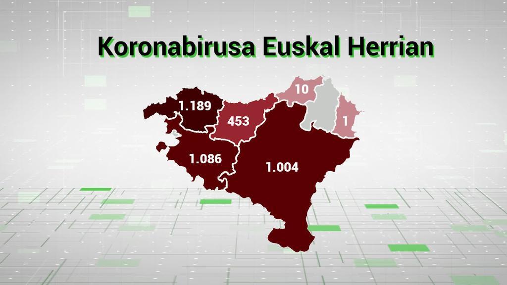 Gaur dagoeneko 3.753 dira Euskal Herrian erakundeek zenbatutako kasuak