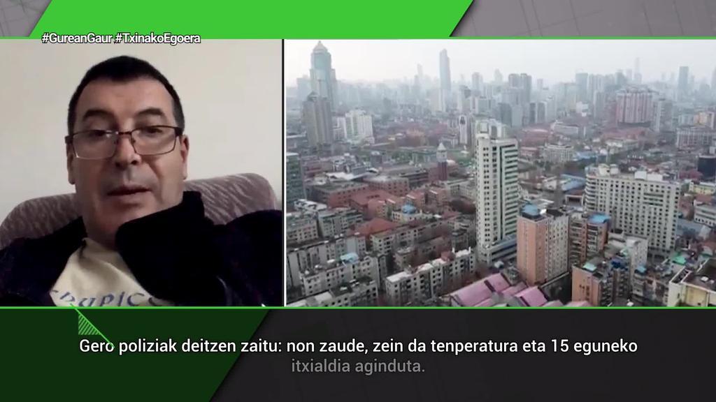 Josean Ezkurra (Txinan bizi den euskalduna):