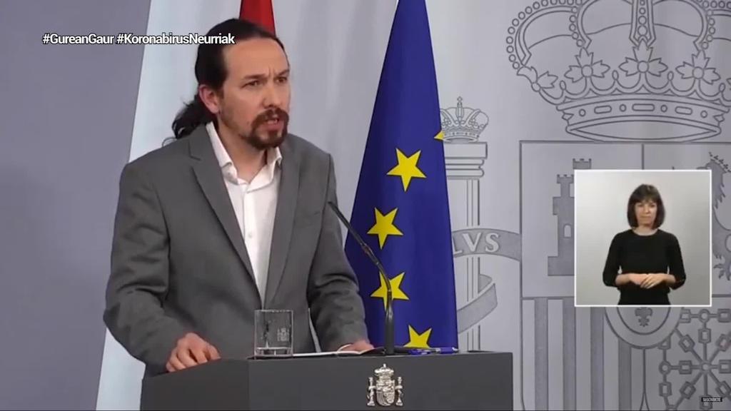 Espainiako Gobernuak etxebizitzari, autonomoei eta etxeko langileei zuzendutako neurriak iragarri ditu