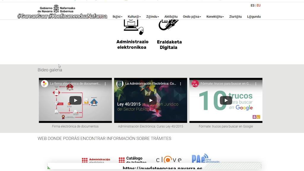 Nafarroako Gobernuak doako kultur eta aisialdi baliabideak bildu ditu webgune batean
