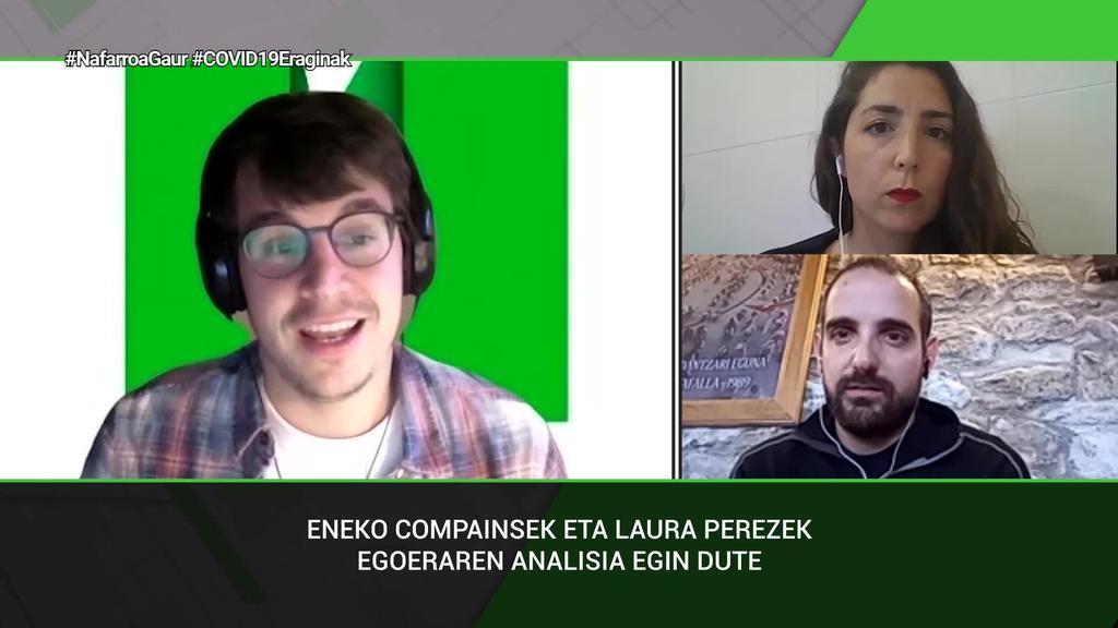 Laura Perez eta Eneko Compainsek sistema publikoa indartzeko beharrra azpimarratu dute