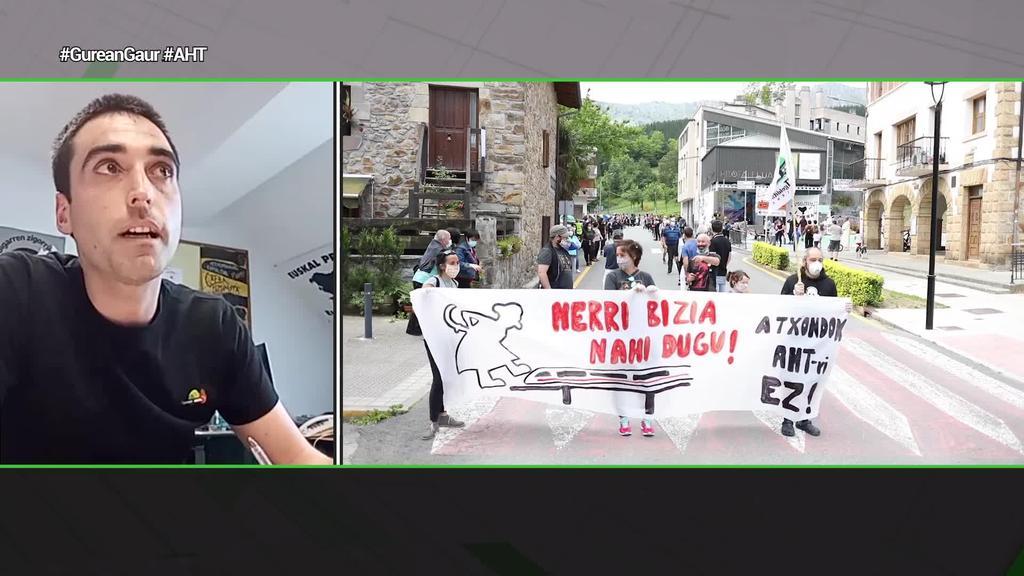 """Iñaki Mariskurrena (Atxondok AHTari Ez plataforma): """"AHTaren obrak suposatzen duen gastua ekimen sozialetara bideratu dezatela"""""""