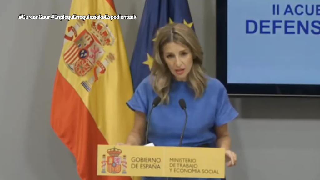 Espainiako Gobernuak aldi baterako erregulazio bereziak irailera arte luzatzea adostu du patronalarekin eta sindikatuekin