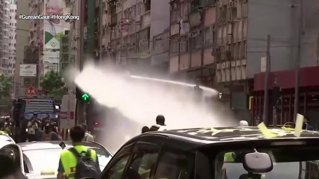 Txinako Segurtasun Legearen aurkako protestan 180 manifestari atxilotu dituzte gutxienez