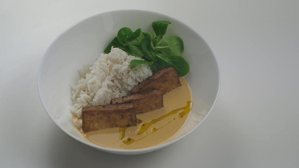 Errezeta beganoa I Marinatutako tofua kakahuete saltsan