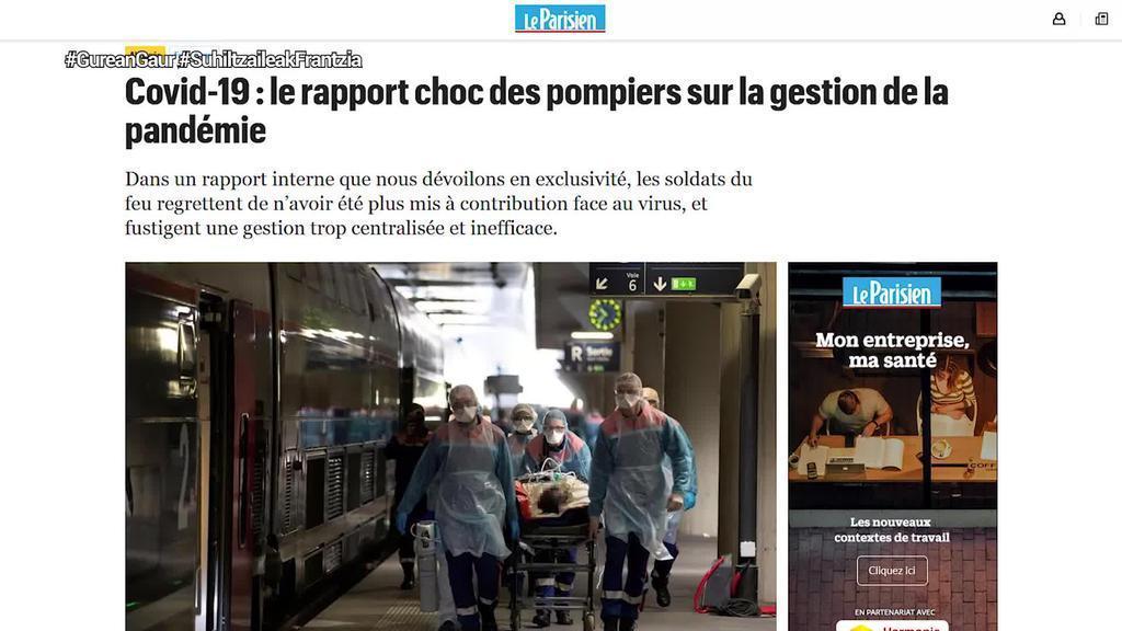 Frantziako Suhiltzaileen Federazio Nazionalak, Gobernuak osasun krisian izan duen kudeaketa kritikatu du
