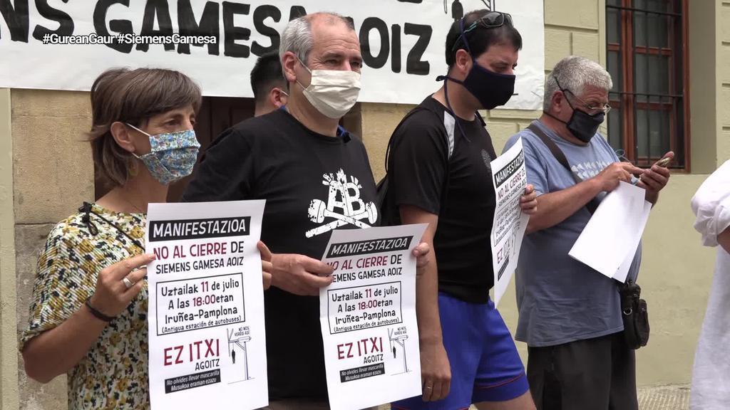 Agoizko eta inguruko hautetsiek eta eragileek Siemens Gamesaren itxieraren aurka borrokatzeko deia egin dute