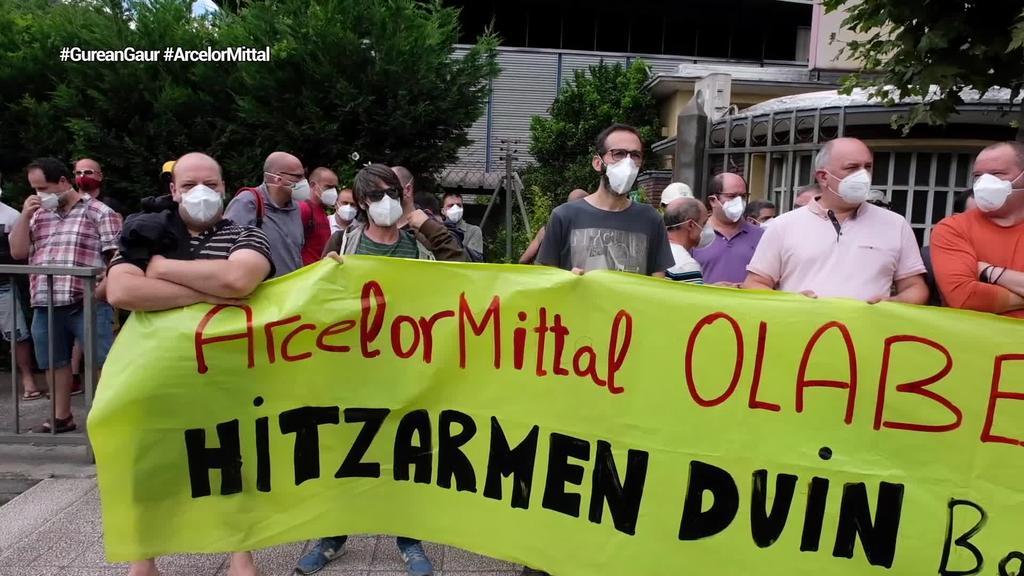 Olaberriako Arcelor Mittaleko langileek lanuzteekin jarraitzen dute