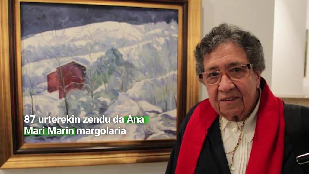 87 urterekin zendu da Ana Mari Marin margolaria