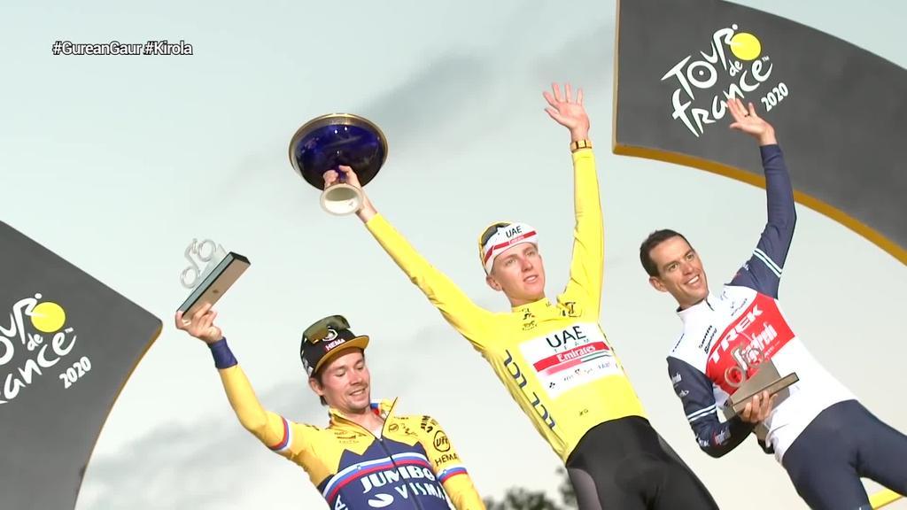 Tadej Pogacar-ek 21 urterekin irabazi du Frantziako Tourra, azken etapan  Rogilc-i aurre hartuz