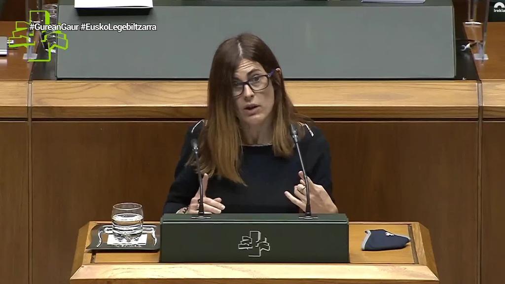 """Miren Gorrotxategi (Elkarrekin Podemos): """"Espainiako aurrekontuetan, ez dut akordiorik ikusten EAJ moduko eskumako alderdiekin"""""""